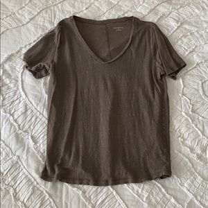 Tops - Brown V Neck Shirt